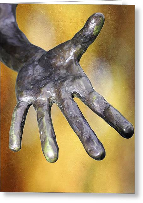 Need A Hand Greeting Card by Stephen Norris