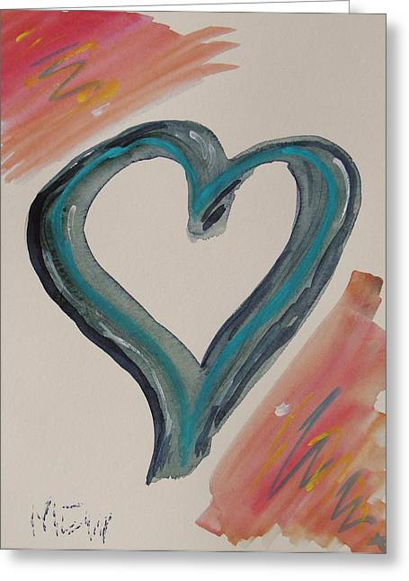 Need For A Blue Heart Greeting Card by Mary Carol Williams