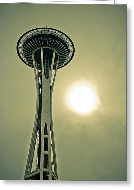 Needle In A Cloud Stack Greeting Card by Eti Reid