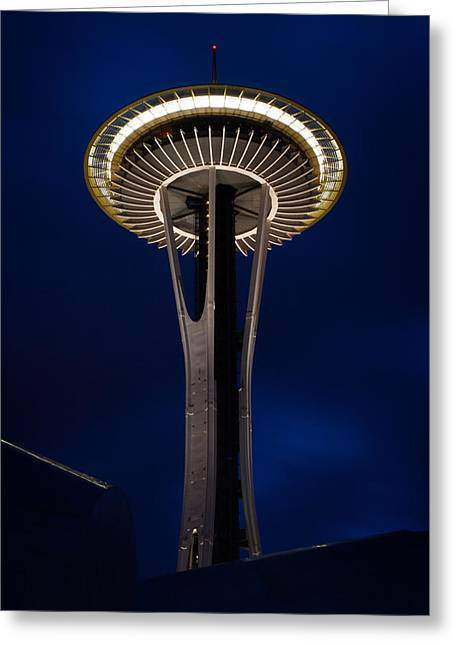 Needle In The Dark Greeting Card by Dayne Reast