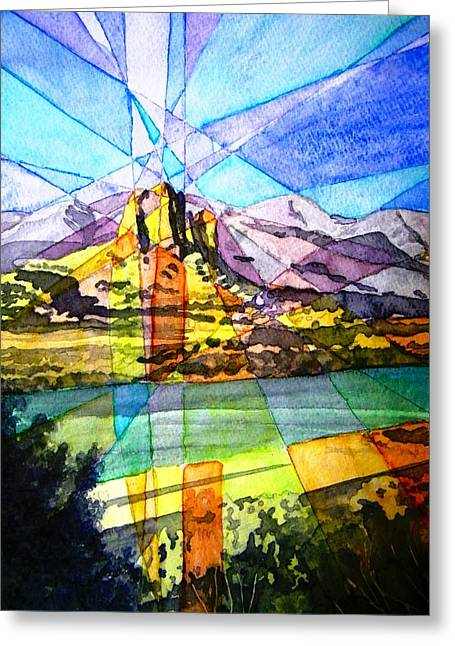 Needle Rock Light Show Greeting Card by Dale Jackson