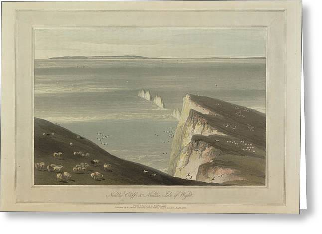 Needles Cliff Greeting Card by British Library