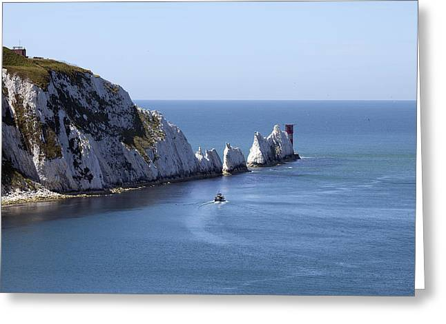 Needle's Isle Of Wight Greeting Card