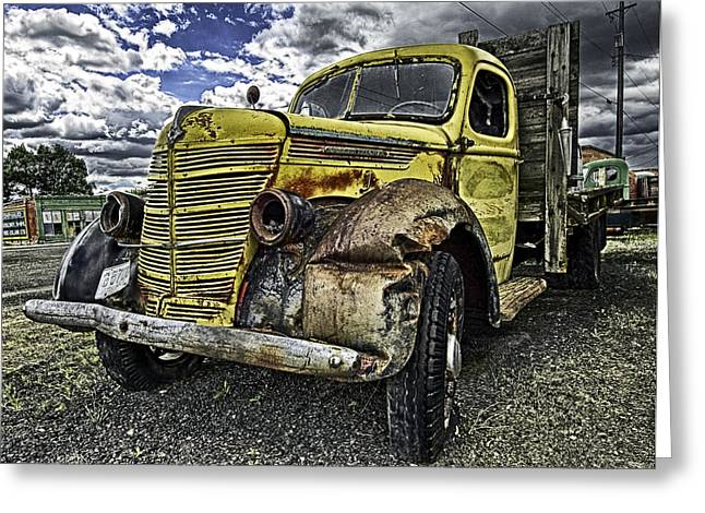Needs New Headlights Greeting Card by Gary Neiss