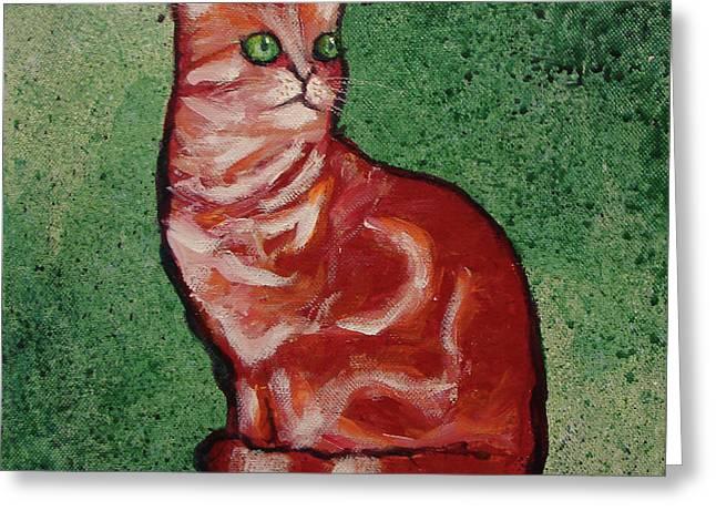 Needy Cat Greeting Card