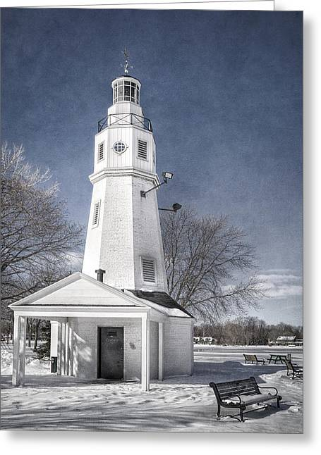 Neenah Lighthouse Greeting Card by Joan Carroll
