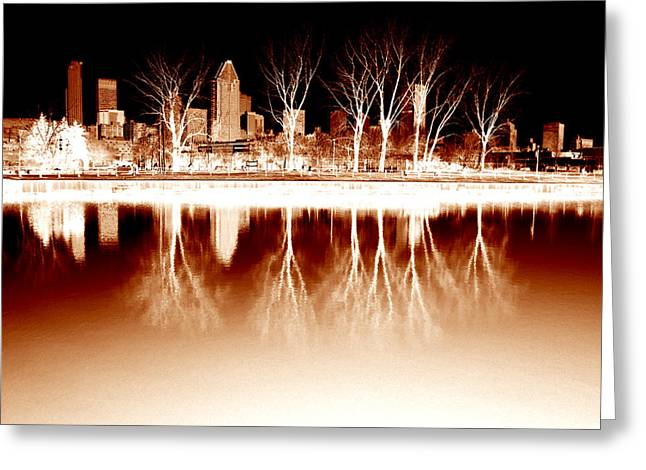 Negative Reflections  Greeting Card by Robert Knight