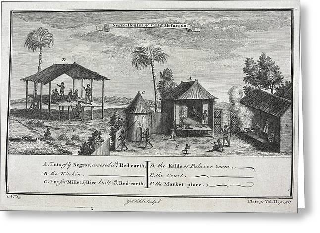 Negro Houses Greeting Card by British Library