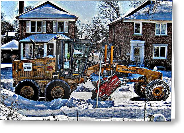 Neighbourhood Snowplough Greeting Card