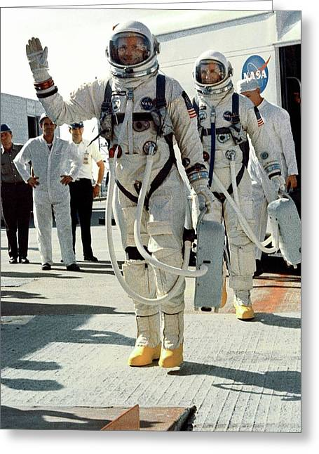 Neil Armstrong And David R. Scott In 1966 Greeting Card