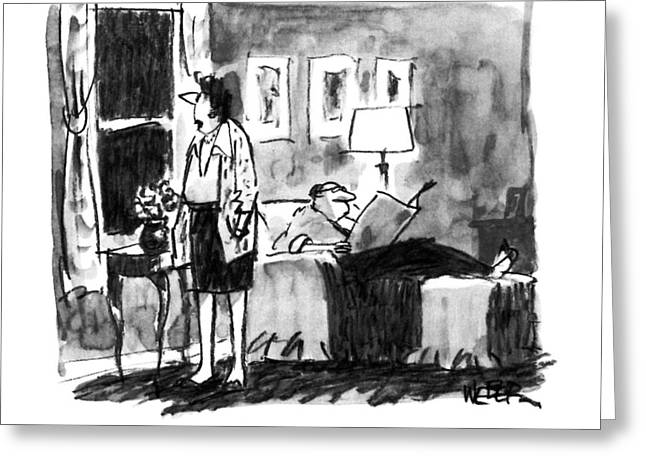 Neil Simon, Where Are You? Greeting Card by Robert Weber