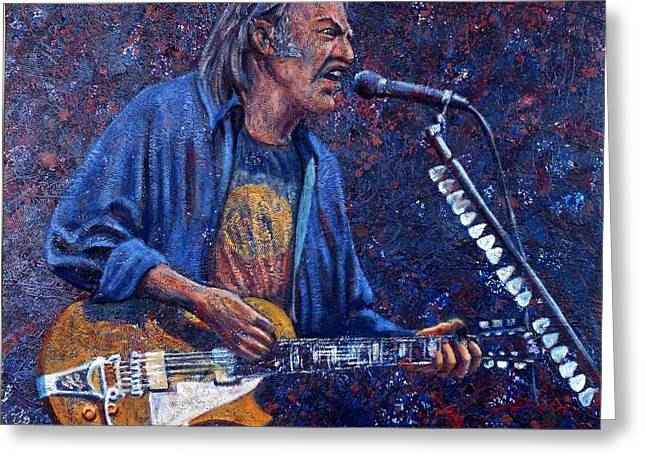 Neil Young Greeting Card by John Cruse Knotts