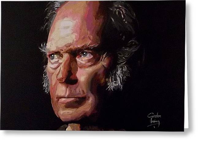 Neil Young Old Man Greeting Card by Gordon Irving