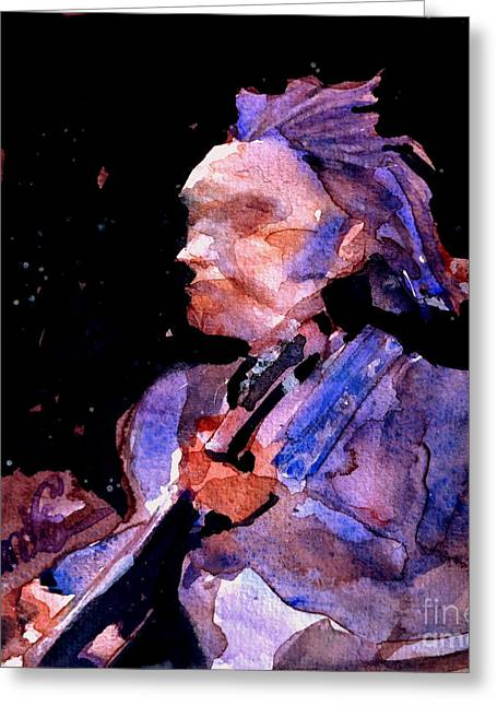 Neil Young Greeting Card by Sandra Stone