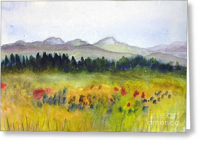 Nek Mountains And Meadows Greeting Card