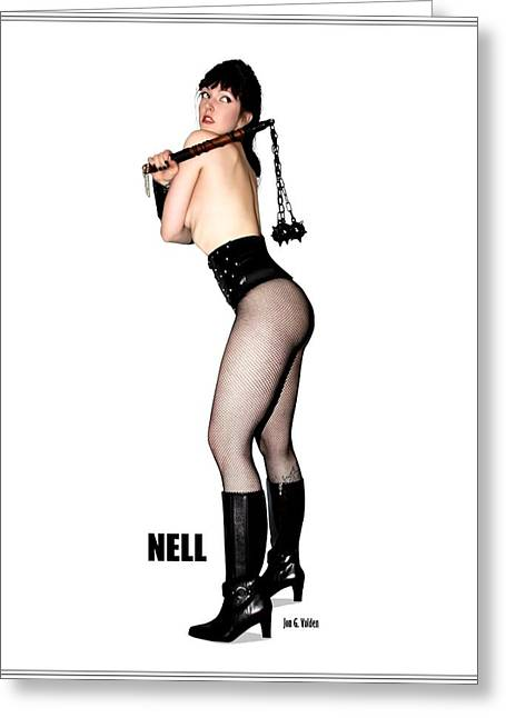 Nell Vgirl Pinup Greeting Card