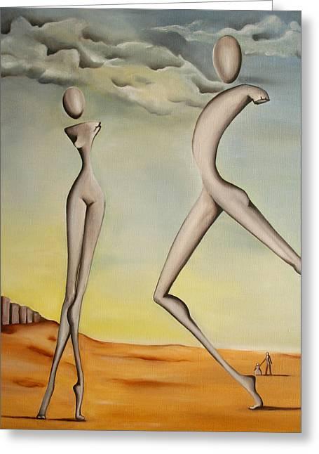 Nella Terra Dei Giganti 2011 Greeting Card by Simona  Mereu
