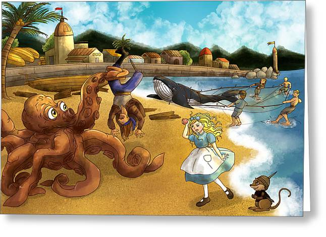 Nellie The Octopus Greeting Card