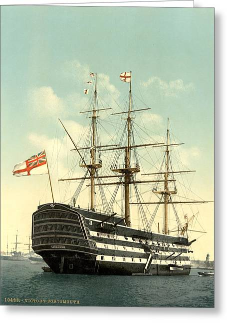 Nelson Hms Victory Greeting Card