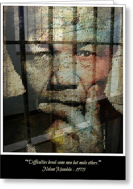 Nelson Mandela - Difficulties Greeting Card