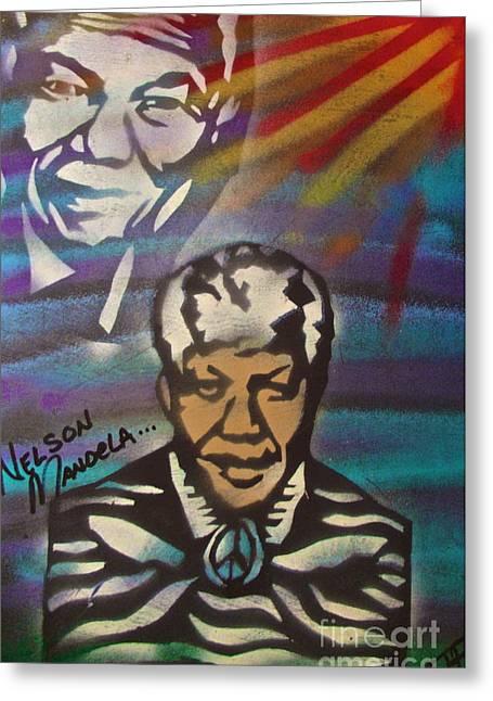 Nelson Mandela Art  Greeting Card by Tony B Conscious