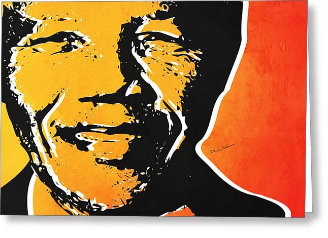 Nelson Mandela Greeting Card by Mark Ashkenazi