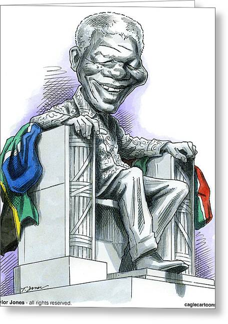 Nelson Mandela Greeting Card by Taylor Jones