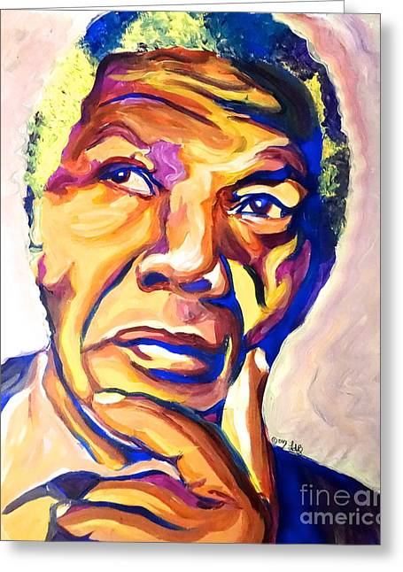 Nelson Mandela Thoughts Greeting Card by LLaura Burge