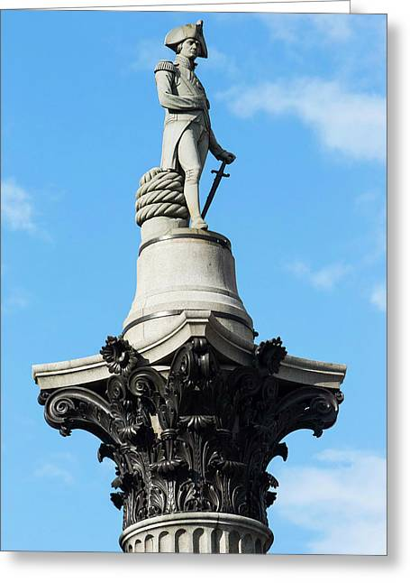 Nelson's Column Statue Greeting Card by Mark Thomas