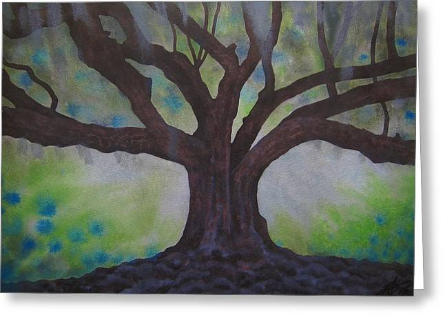 Nemeton Iv Or Southern Live Oak Greeting Card