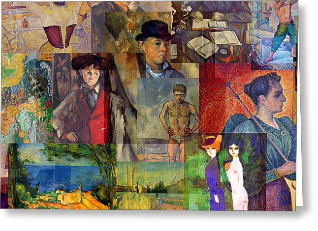 Neo-impressionism 1886 To 1894 Greeting Card