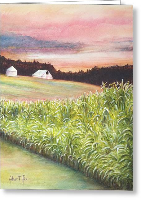 Neola Corn 2 Greeting Card by Arthur Fix