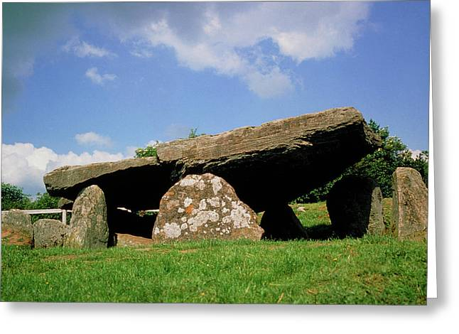 Neolithic Tomb: Arthur's Stone Greeting Card by Tony Craddock/science Photo Library