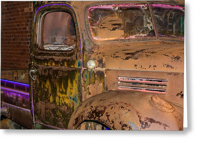 Neon And Rust Greeting Card