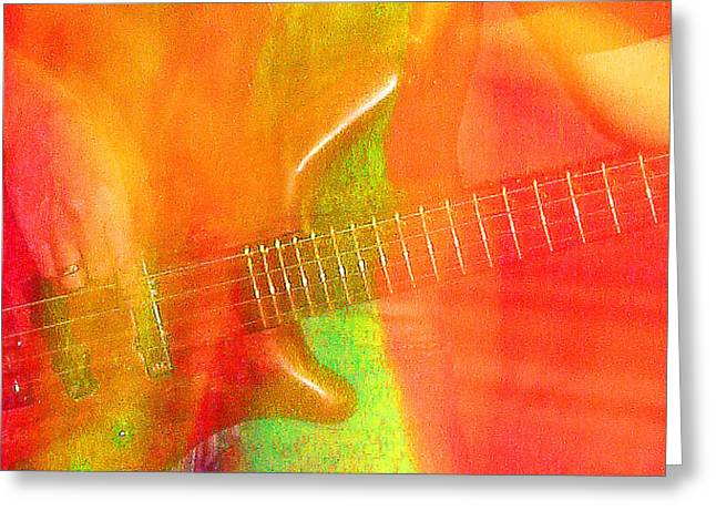 Neon Bass Fusion Greeting Card by James Hammen