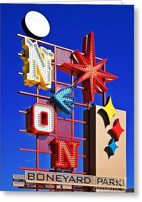 Vegas Neon Boneyard Greeting Card