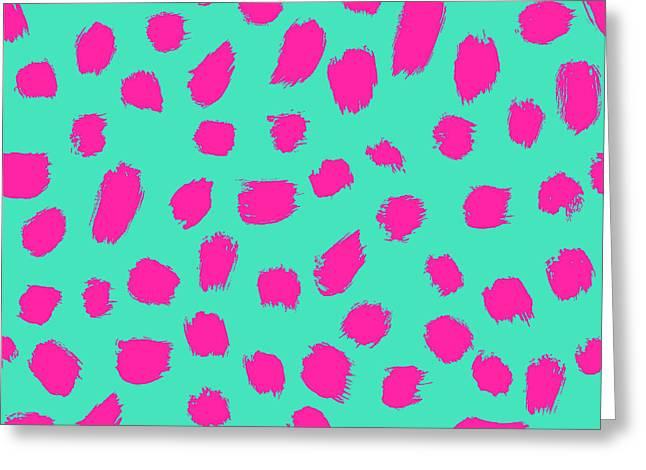 Neon Brush Seamless Pattern Background Greeting Card
