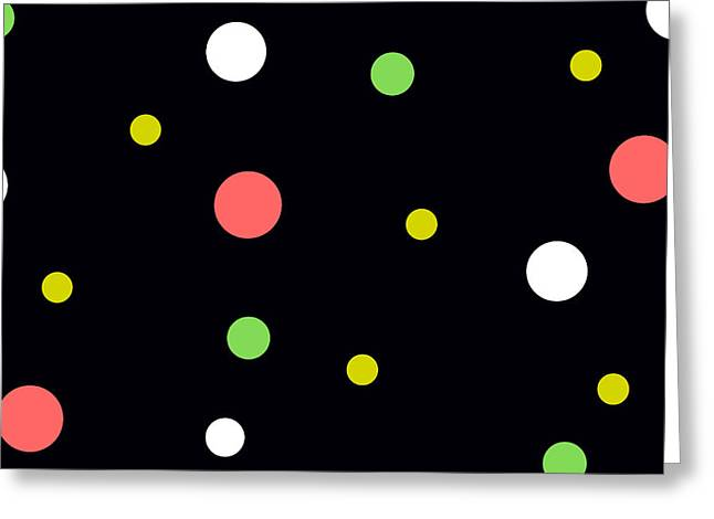 Neon Circles Greeting Card by Chastity Hoff