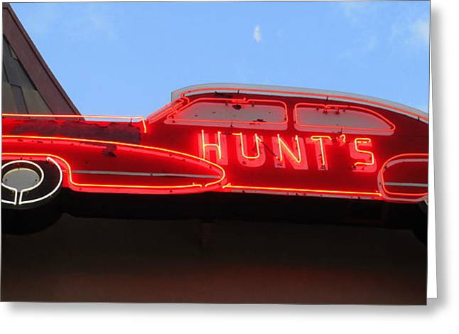 Neon Hunts Greeting Card by Randall Weidner