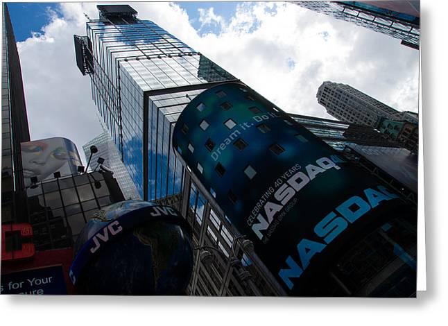 Neon Lights And Ads - Times Square Manhattan New York City Usa Greeting Card by Georgia Mizuleva