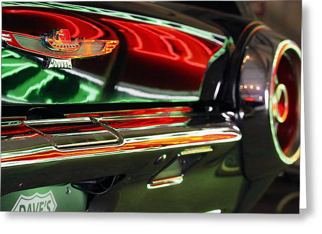 Greeting Card featuring the photograph Neon Reflections by Shoal Hollingsworth