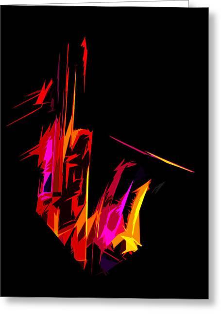 Neon Sax Greeting Card