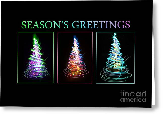 Neon Seasons Greetings Greeting Card