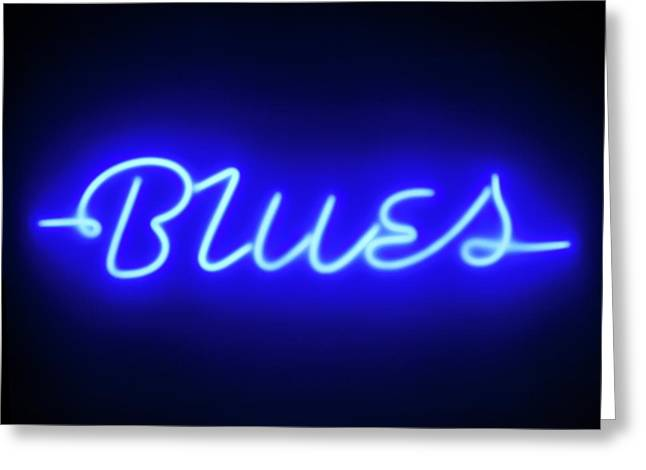 Neon Sign Greeting Card by Ton Kinsbergen