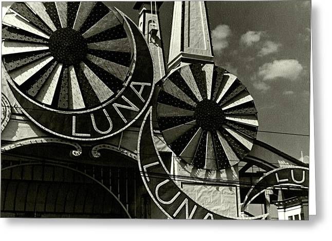 Neon Signs Of Luna Park Greeting Card by Lusha Nelson