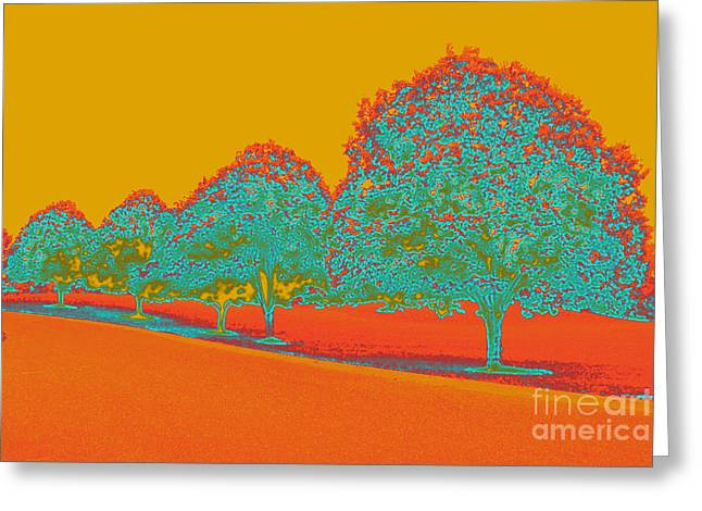 Neon Trees In The Fall Greeting Card