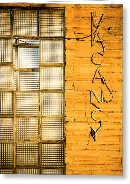 Neon Vacancy Sign, Pacific, Missouri Greeting Card by Julien Mcroberts