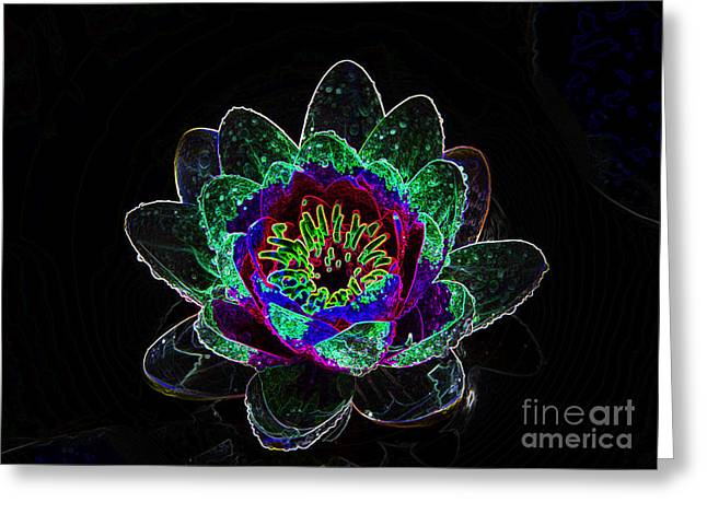 Neonflower Greeting Card