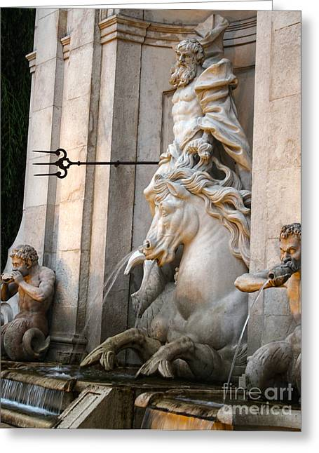 Neptune Fountain In Salzburg Austria - 01 Greeting Card