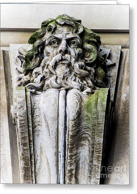 Neptune In Stone Greeting Card by James Aiken